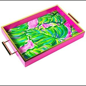 NIB Lilly Pulitzer Hostess Tray in Painted Palm